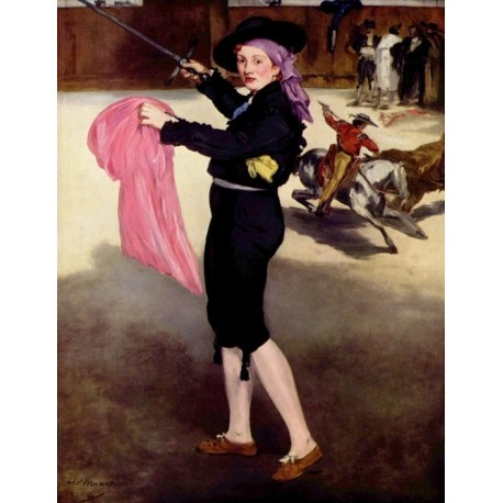 Mlle. Victorine in the Custome of a Matador 1862 By Edouard Manet - Art gallery oil painting reproductions