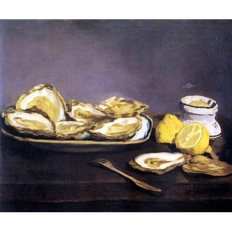 Oysters By Edouard Manet - Art gallery oil painting reproductions