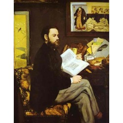 Portrait of Emile Zola 1868 By Edouard Manet - Art gallery oil painting reproductions
