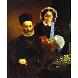 Portrait of M. and Mme. Auguste Manet 1860 By Edouard Manet - Art gallery oil painting reproductions