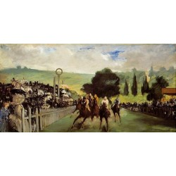 Races at Longchamp 1867 By Edouard Manet - Art gallery oil painting reproductions