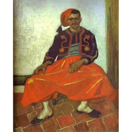 Zouave Milliet Seated by Vincent Van Gogh - Art gallery oil painting reproductions