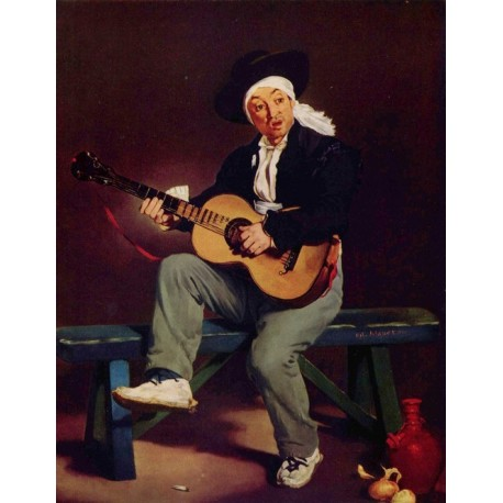 Spanish Singer 1860 By Edouard Manet - Art gallery oil painting reproductions