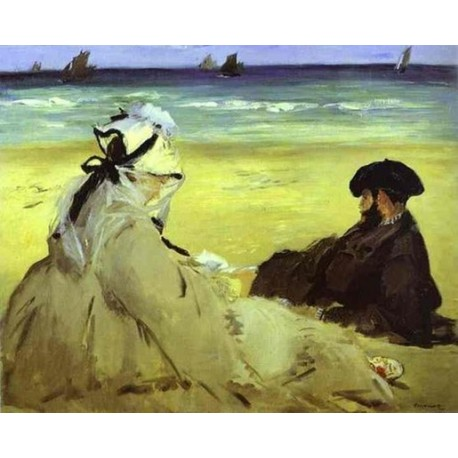 The Beach 1873 By Edouard Manet - Art gallery oil painting reproductions