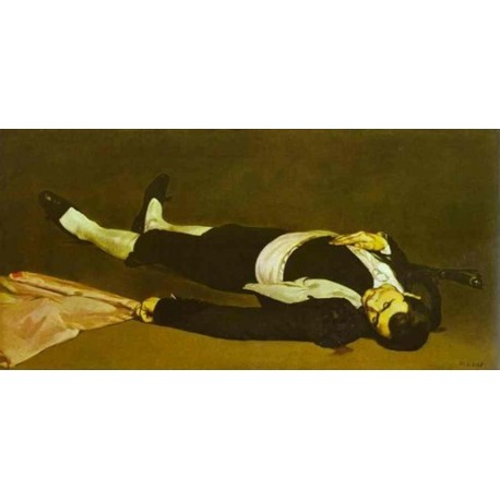 The Dead Toreador 1864 By Edouard Manet - Art gallery oil painting reproductions