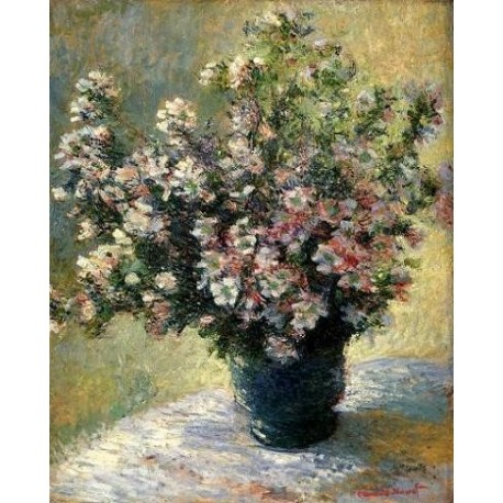 Vase of Flowers by Claude Oscar Monet - Art gallery oil painting reproductions
