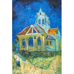 The Church in Auvers by Vincent Van Gogh - Art gallery oil painting reproductions