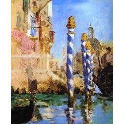 The Grand Canal in Venice 1874 By Edouard Manet - Art gallery oil painting reproductions