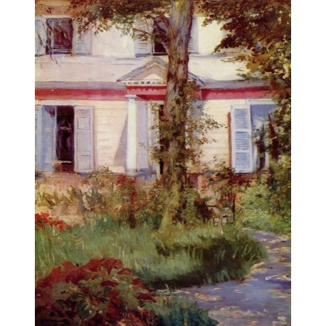 The House at Rueil By Edouard Manet - Art gallery oil painting reproductions