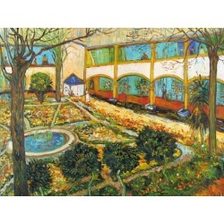 The Courtyard in Arles by Vincent Van Gogh - Art gallery oil painting reproductions