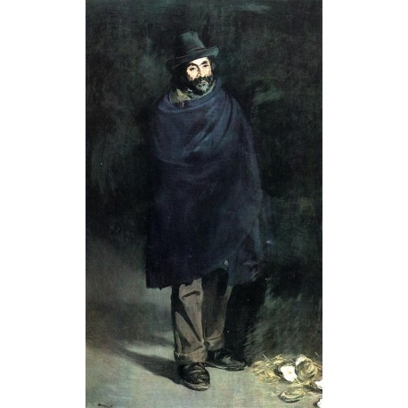 The Philosopher Beggar with Oysters 1864-67 By Edouard Manet - Art gallery oil painting reproductions