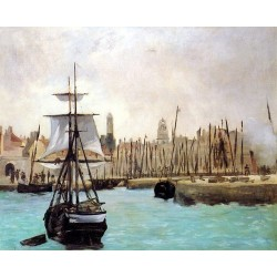 The Port of Calais By Edouard Manet - Art gallery oil painting reproductions