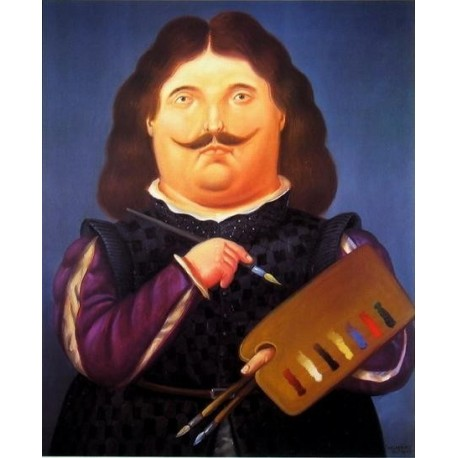 Portrait Of Velazquez By Fernando Botero Art Gallery Oil