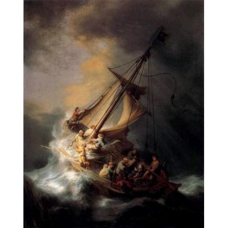 The Storm on the Sea of Galilee by Rembrandt Van Rijn-Art gallery oil painting reproductions