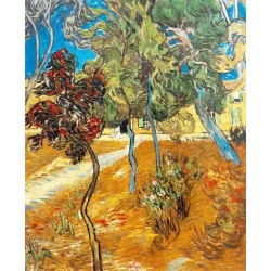 Trees in the Asylum Garden by Vincent Van Gogh - Art gallery oil painting reproductions