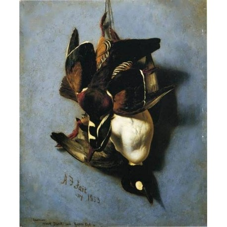 American Wood Duck and Golden Eye By Arthur Fitzwilliam Tait - Art gallery oil painting reproductions