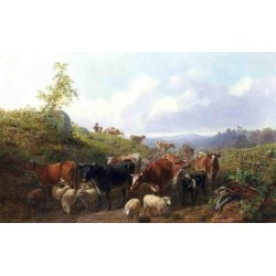 Down the Road in Franklin County New York By Arthur Fitzwilliam Tait - Art gallery oil painting reproductions