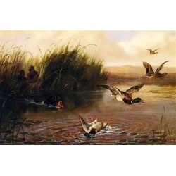 Duck Shooting By Arthur Fitzwilliam Tait - Art gallery oil painting reproductions