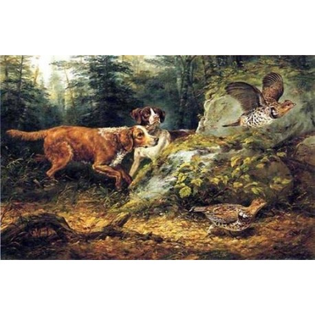Flushed Ruffed Grouse Shooting By Arthur Fitzwilliam Tait - Art gallery oil painting reproductions