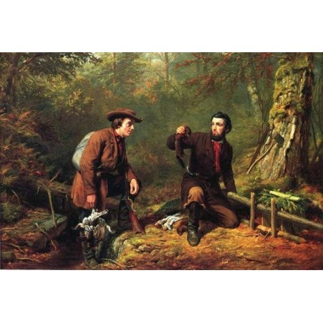 Mink Trapping in Northern New York By Arthur Fitzwilliam Tait - Art gallery oil painting reproductions