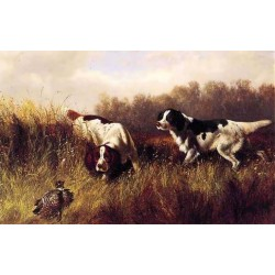 Prairie Shooting Find HIm By Arthur Fitzwilliam Tait - Art gallery oil painting reproductions