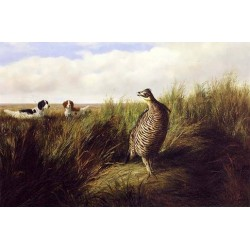 The Challenge By Arthur Fitzwilliam Tait - Art gallery oil painting reproductions
