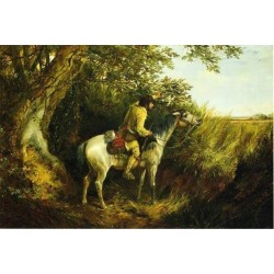 Trapper Looking Out By Arthur Fitzwilliam Tait - Art gallery oil painting reproductions