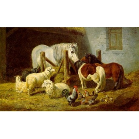 Barnyard By Arthur Fitzwilliam Tait - Art gallery oil painting reproductions