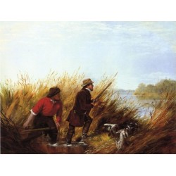 Duck Shooting - A Good Shot By Arthur Fitzwilliam Tait - Art gallery oil painting reproductions