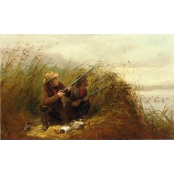Duck Shooting with Decoys By Arthur Fitzwilliam Tait - Art gallery oil painting reproductions