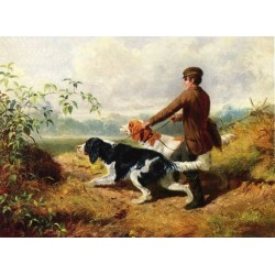 Going Out By Arthur Fitzwilliam Tait - Art gallery oil painting reproductions