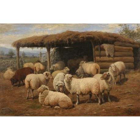 Just Home By Arthur Fitzwilliam Tait - Art gallery oil painting reproductions
