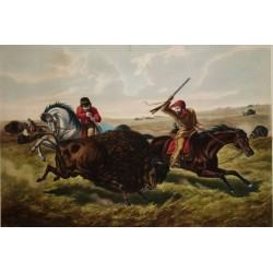 Life on the Prairie - The Buffalo Hunt By Arthur Fitzwilliam Tait - Art gallery oil painting reproductions