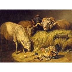 Maternal Solicitude By Arthur Fitzwilliam Tait - Art gallery oil painting reproductions
