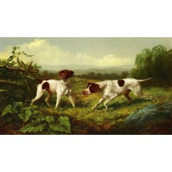 On a Point By Arthur Fitzwilliam Tait - Art gallery oil painting reproductions