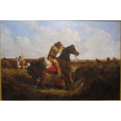 The Check - Keep Your Distance By Arthur Fitzwilliam Tait - Art gallery oil painting reproductions