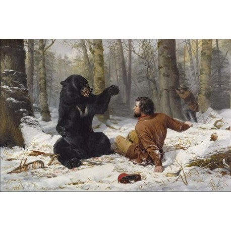 The Life of a Hunter By Arthur Fitzwilliam Tait - Art gallery oil painting reproductions