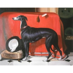 Dog Oil Painting 5 - Art Gallery Oil Painting Reproductions