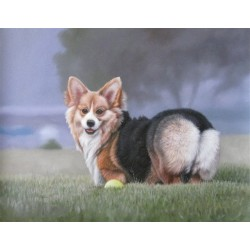 Dog Oil Painting 7 - Art Gallery Oil Painting Reproductions