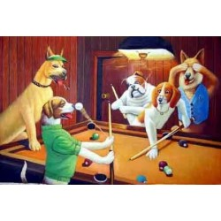 Dog Oil Painting 8 - Art Gallery Oil Painting Reproductions