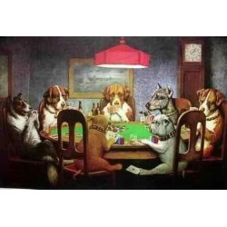 Dog Oil Painting 9 - Art Gallery Oil Painting Reproductions