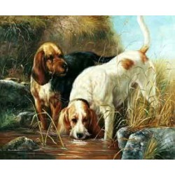 Dog Oil Painting 10 - Art Gallery Oil Painting Reproductions