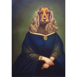 Dog Oil Painting 12 - Art Gallery  Oil Painting Reproductions
