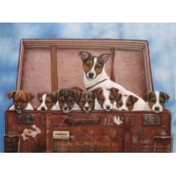 Dog Oil Painting 13 - Art Gallery  Oil Painting Reproductions