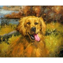 Dog Oil Painting 14 - Art Gallery Oil Painting Reproductions
