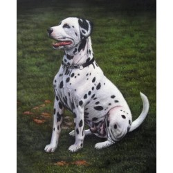 Dog Oil Painting 15 - Art Gallery Oil Painting Reproductions