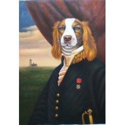 Dog Oil Painting 16 - Art Gallery Oil Painting Reproductions