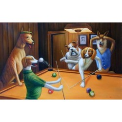 Dog Oil Painting 28 - Art Gallery  Oil Painting Reproductions