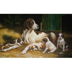 Dog Oil Painting 30 - Art Gallery Oil Painting Reproductions
