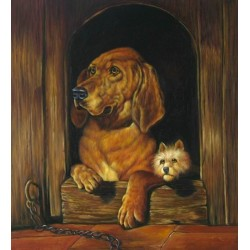 Dog Oil Painting 31 - Art Gallery  Oil Painting Reproductions